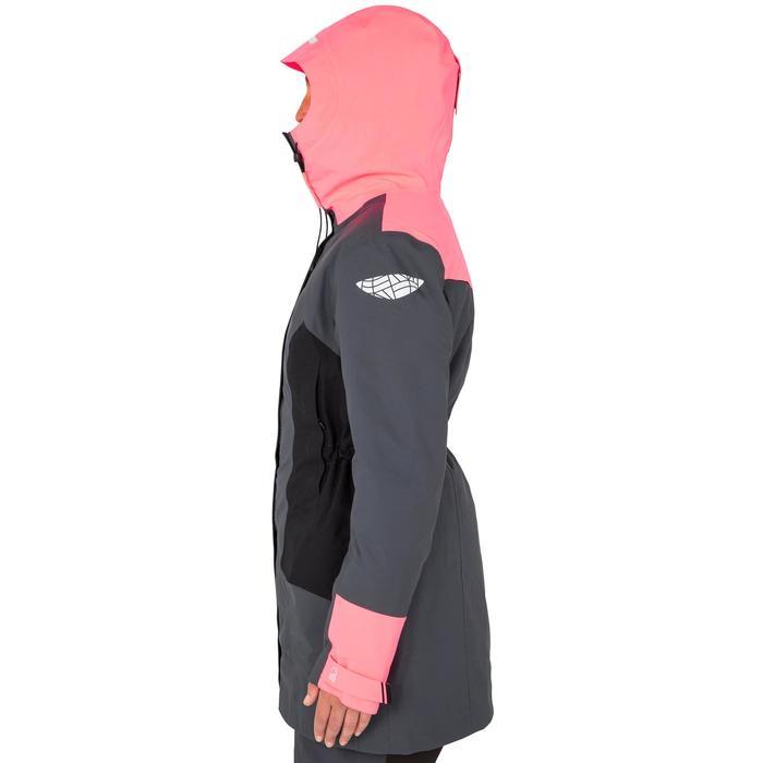 Damesparka 500 voor zeilen grijs/roze
