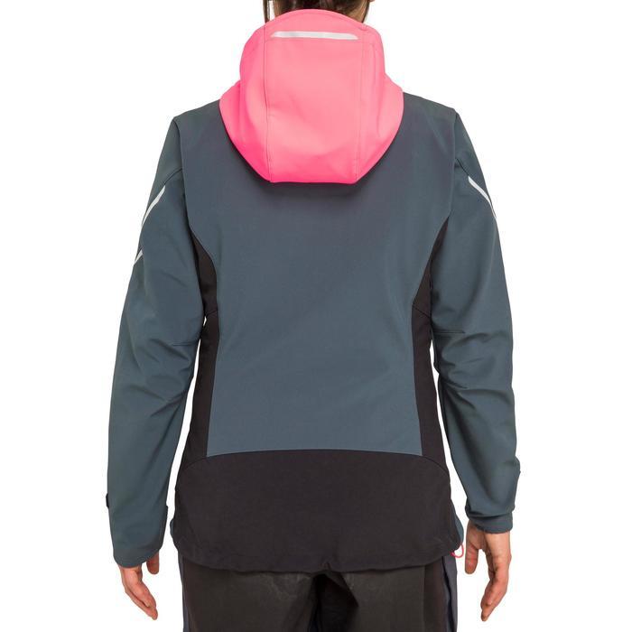Softshell de régate femme RACE bleu marine gris rose fluo