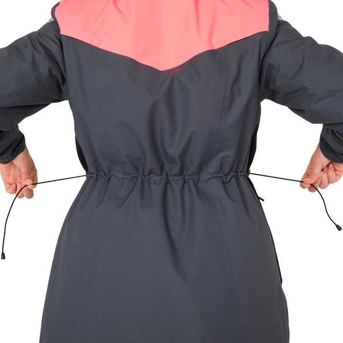 Veste parka bateau femme 500 gris / rose