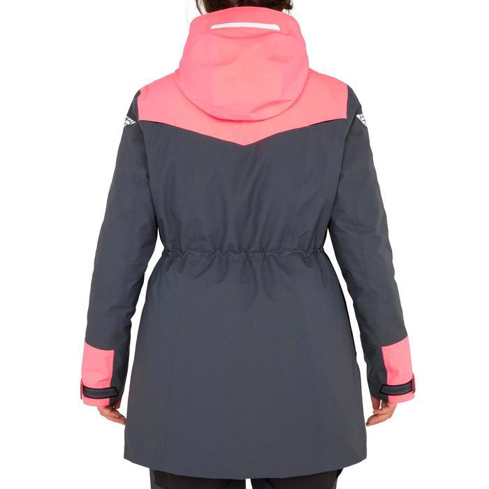 Zeiljas dames 500 blauw grijs/roze
