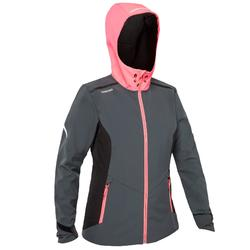 Race Women's Yacht Racing Softshell - Navy Blue Grey Neon Pink