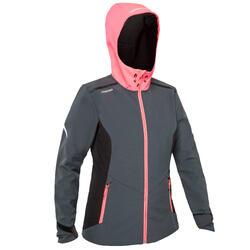 Softshell de regata mujer RACE gris rosa fluo