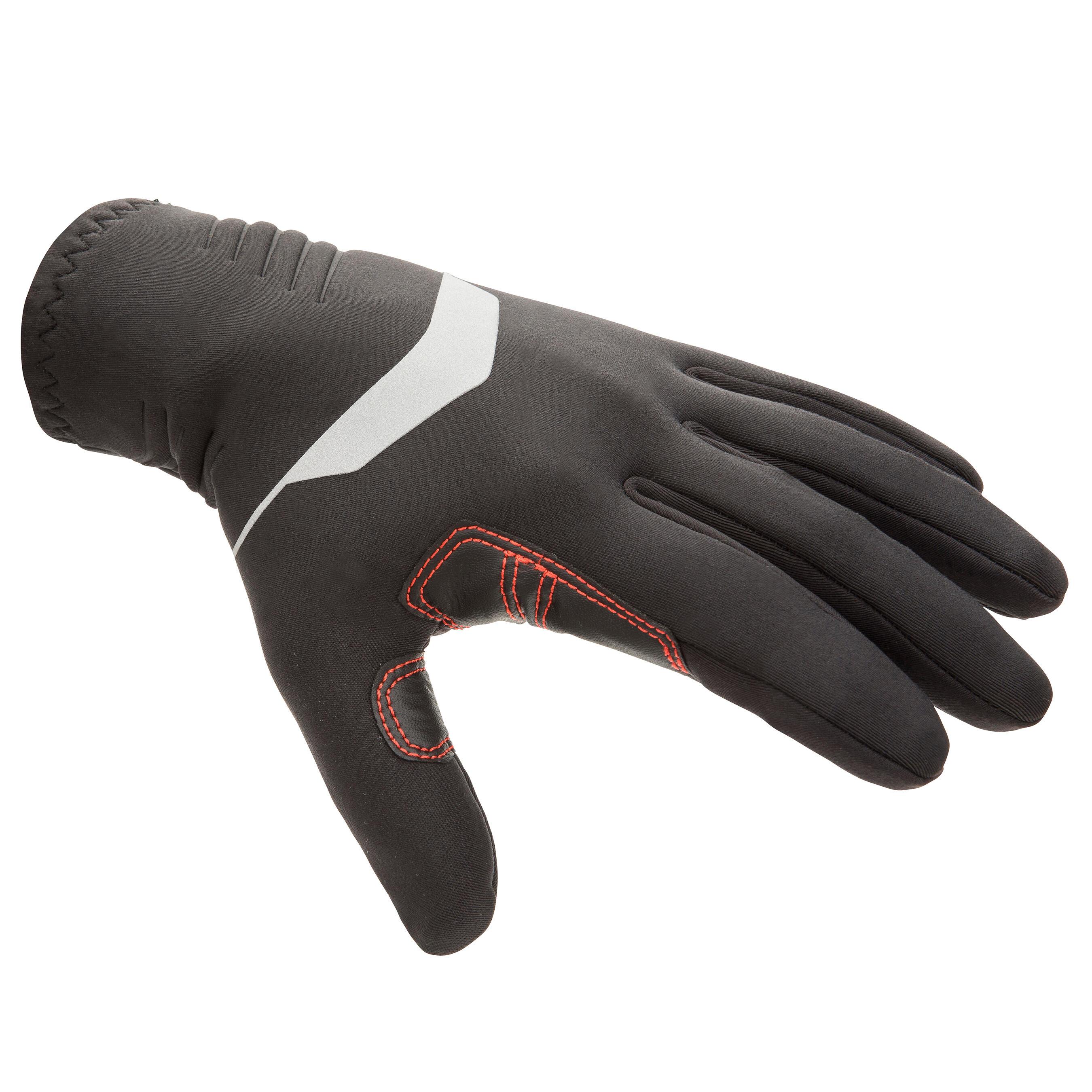 Tribord Neopreen zeilhandschoenen 900 1 mm zwart