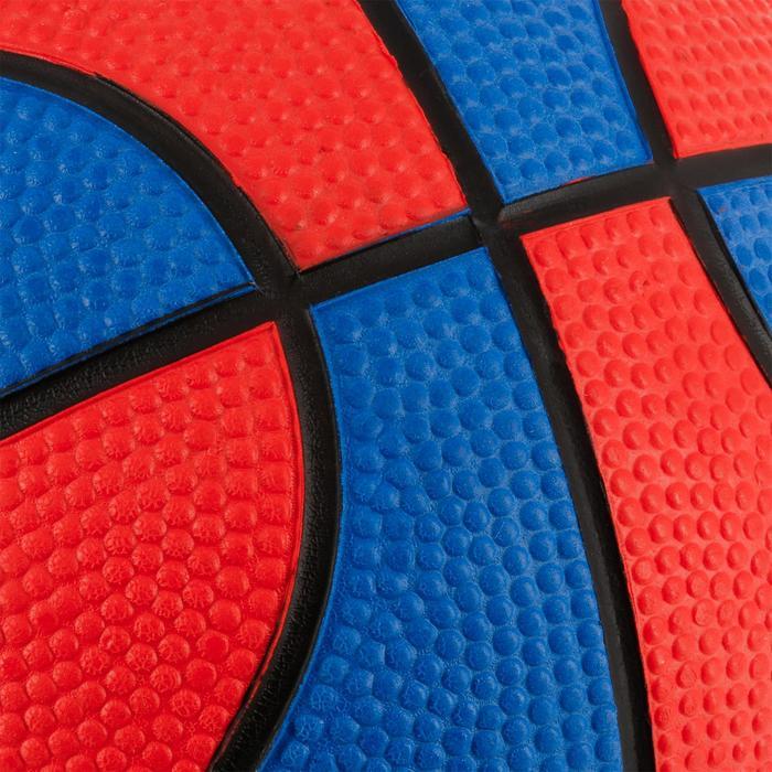 Minibasketbal Mini B maat 1 voor kinderen. Tot 4 jaar. rood/blauw