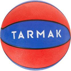 Mini Balón Baloncesto Tarmak K100 Caucho Talla 1 Azul Rojo
