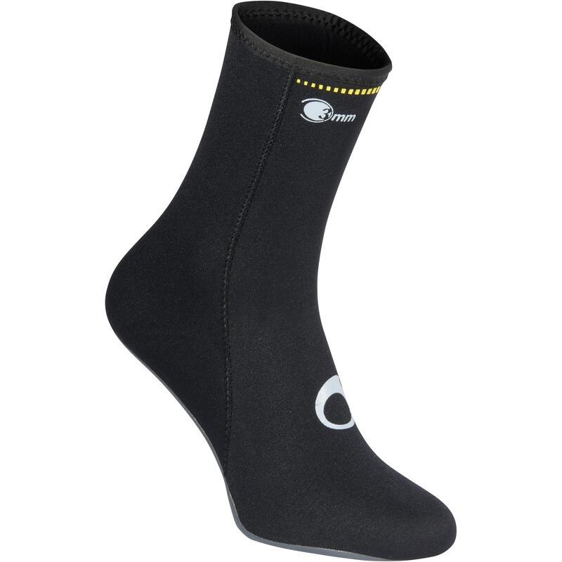 Escarpines Buceo tipo calcetín suela reforzada Subea SCD 500 Neopreno 3mm
