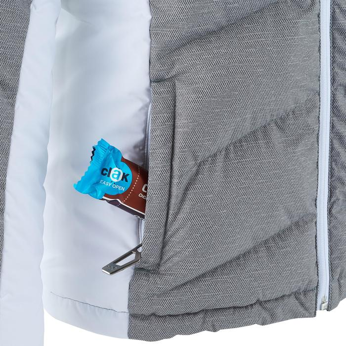 Ski-jas voor kinderen Warm 500 grijs/wit