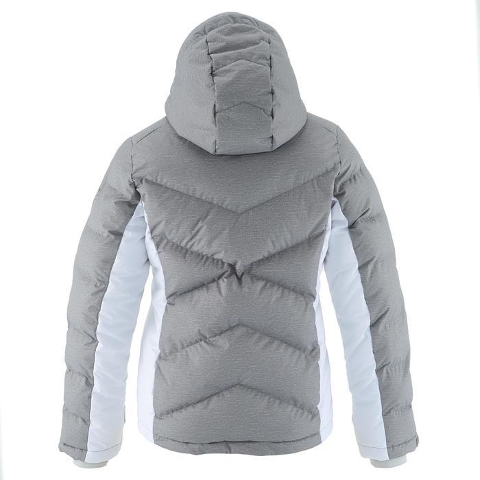 Ski-jas voor kinderen SKI-P JKT 500 Warm grijs en wit