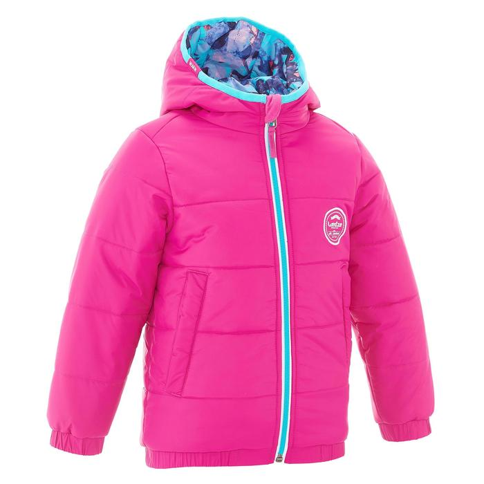 VESTE SKI ENFANT WARM REVERSE ROSE MOTIF CRISTAUX - 1236940