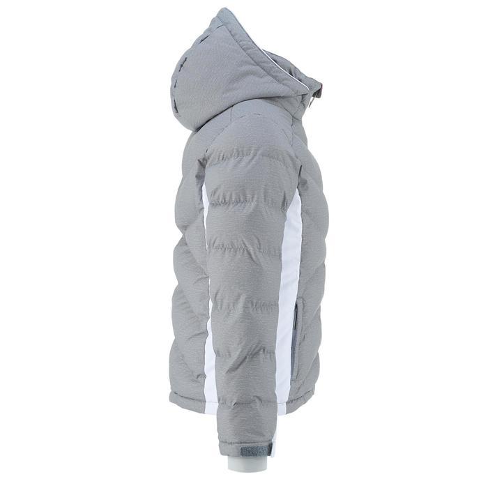 DOUDOUNE DE SKI ENFANT SKI-P JKT 500 WARM GRISE ET BLANCHE