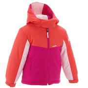 Rožnata smučarska jakna 100 za otroke