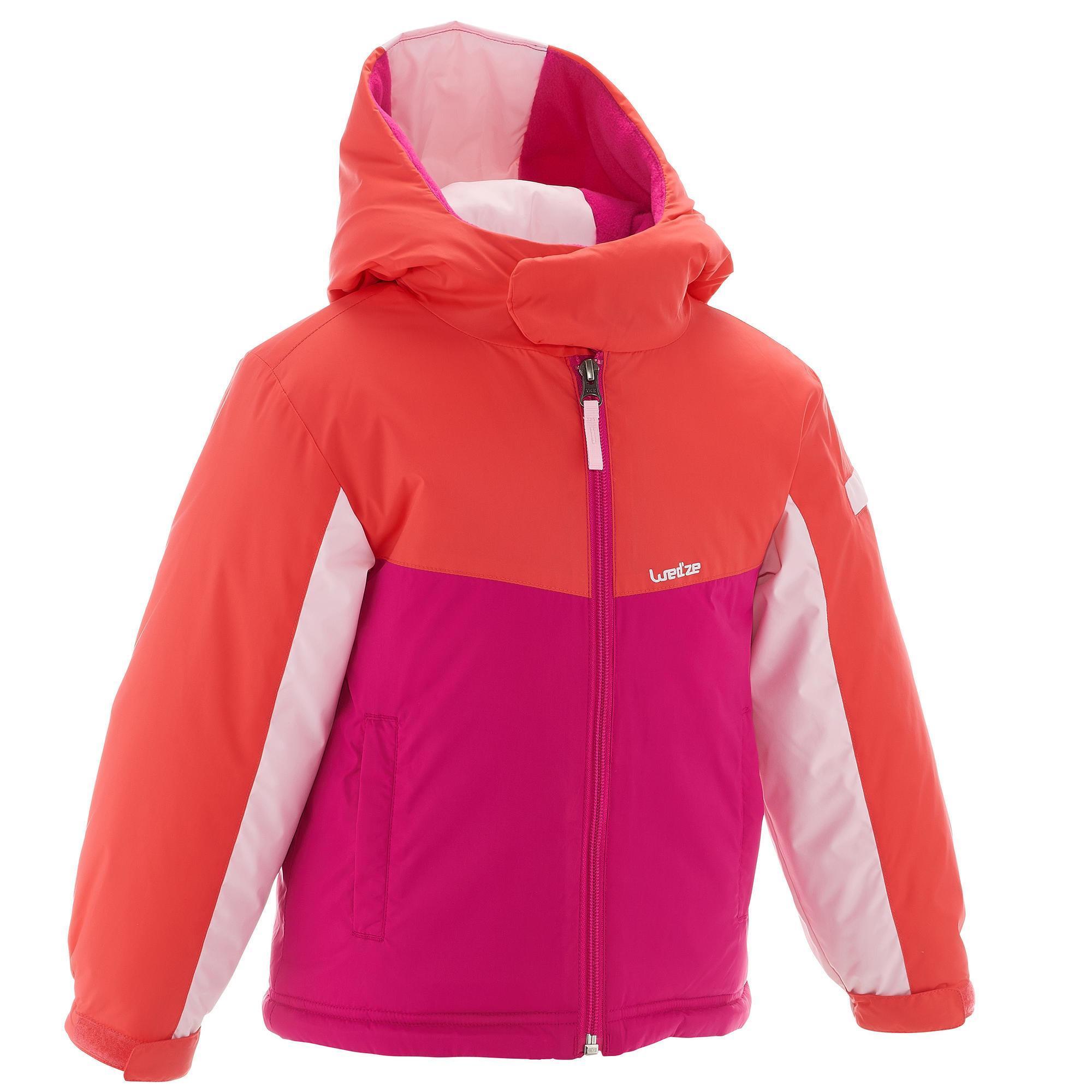 Skijacke Ski-P JKT 100 Kinder rosa