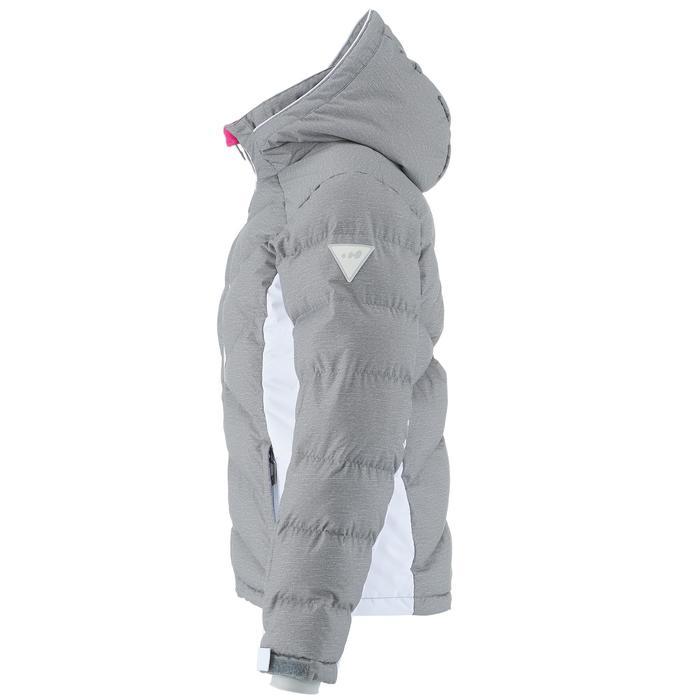 Skijacke 500 warm Kinder grau und weiß