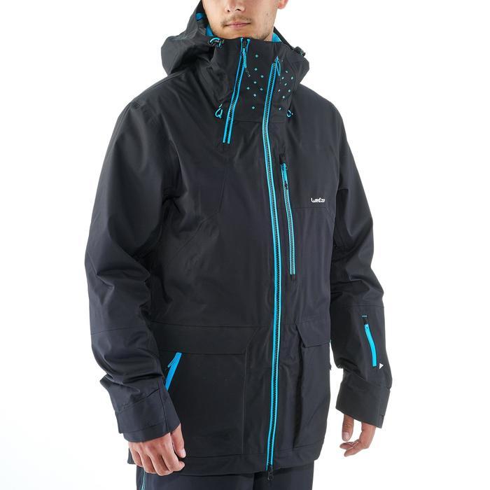 Veste de ski freeride homme free 900 noire - 1236979