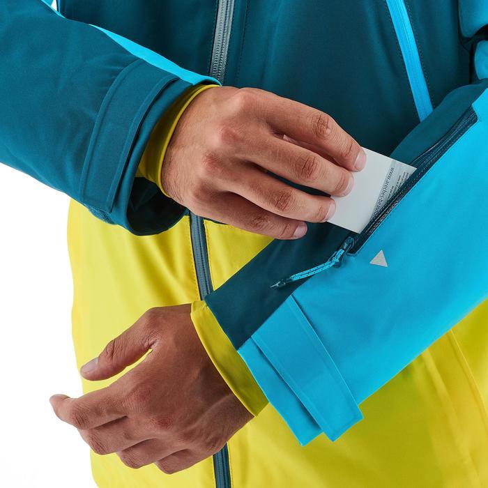 Veste de ski freeride homme free 700 jaune bleu