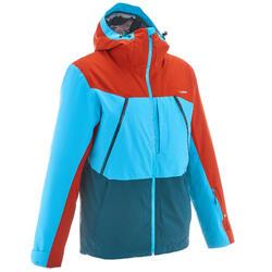 Chaqueta esquí freeride hombre 700 rojo azul