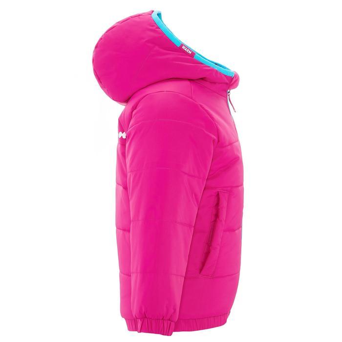 VESTE SKI ENFANT WARM REVERSE ROSE MOTIF CRISTAUX - 1237009