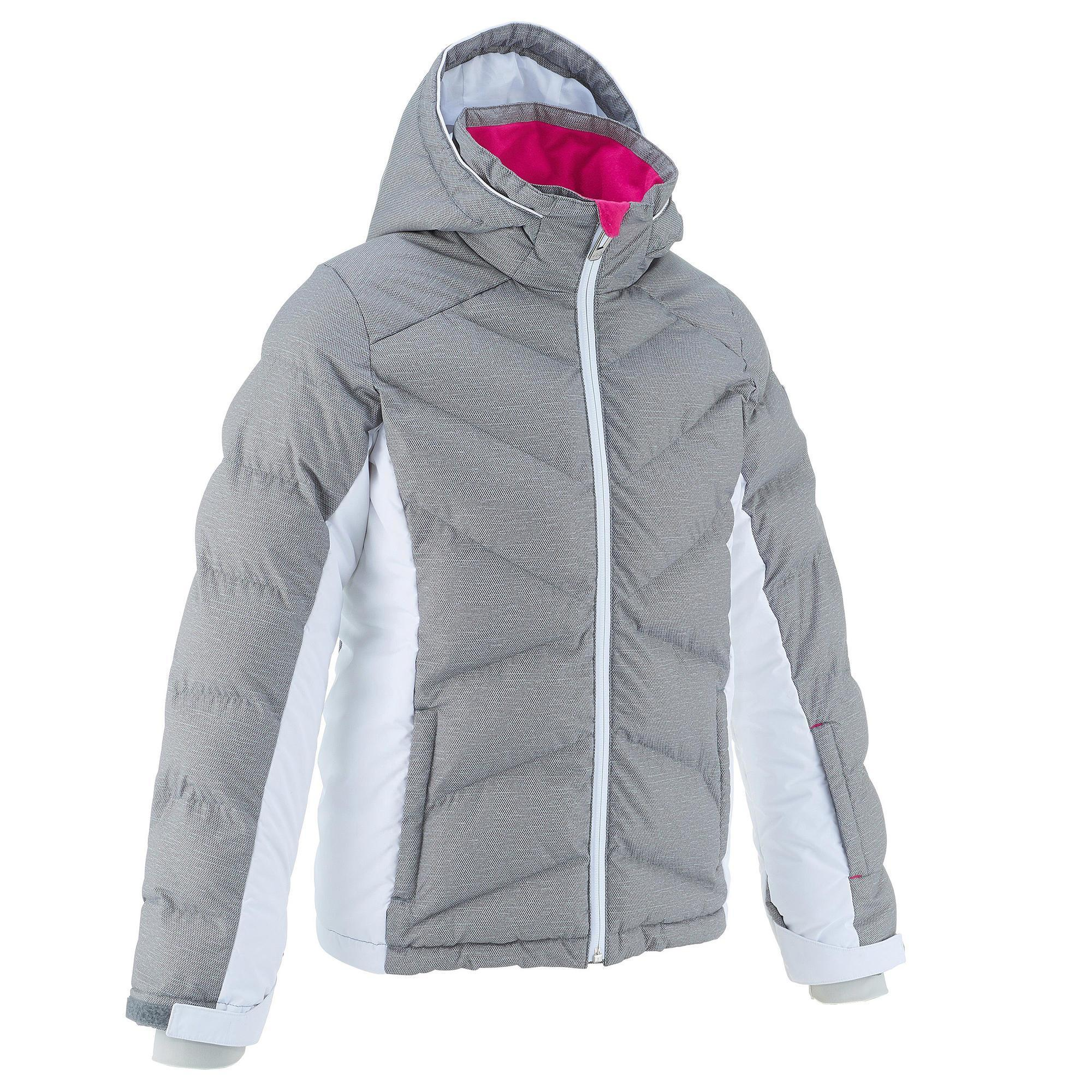 doudoune de ski enfant ski p jkt 500 warm grise et blanche wedze. Black Bedroom Furniture Sets. Home Design Ideas