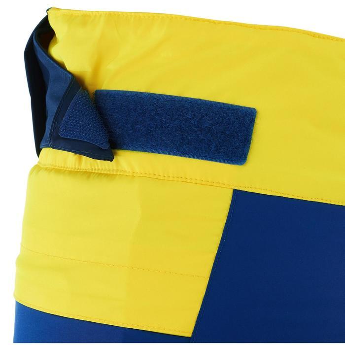 兒童滑雪衣COMBO 500 PNF藍色與黃色