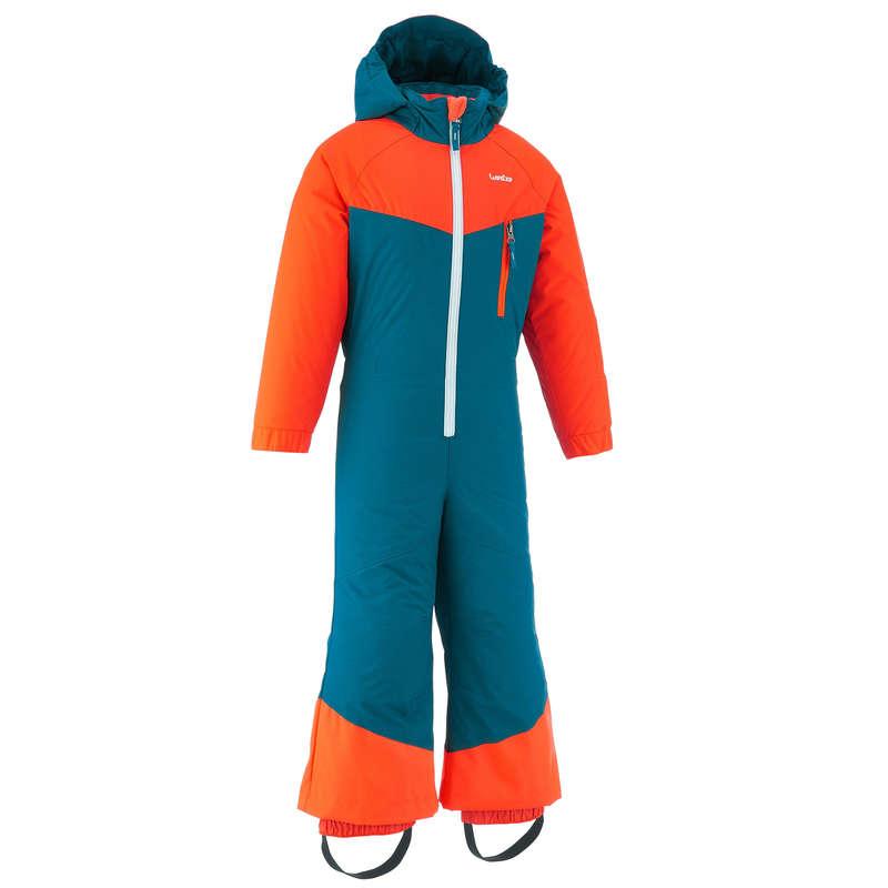 KID'S JACKETS OR PANTS OCCASIONAL SKIERS Outdoor Activities - SKI-P SUIT 100 JR BLUE ORANGE WEDZE - Outdoor Activities