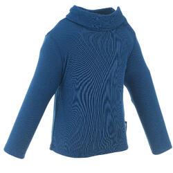 Thermoshirt voor sleeën / skiën peuters Simple Warm marineblauw