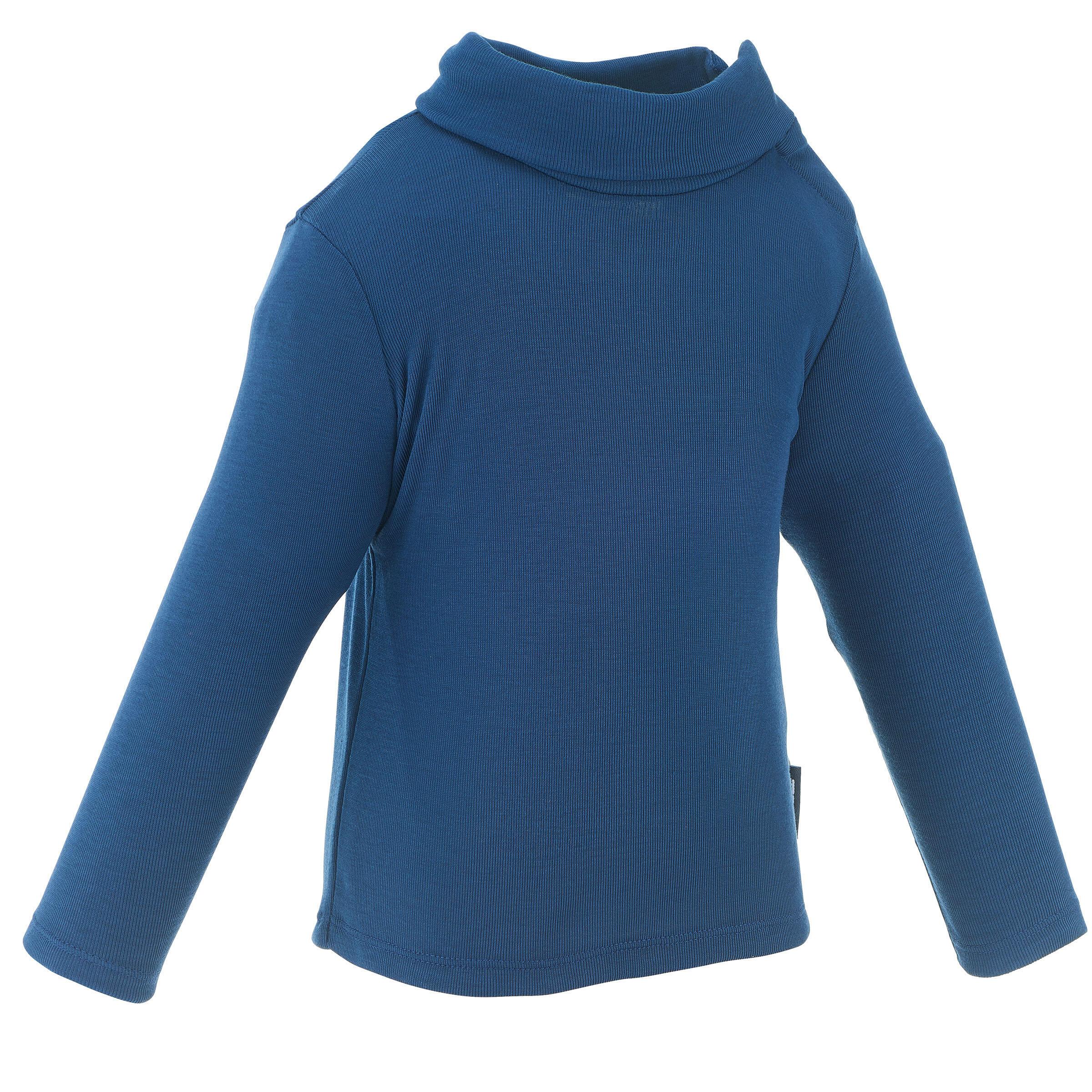 Wed'ze Thermoshirtje voor sleeën Simple Warm marineblauw baby