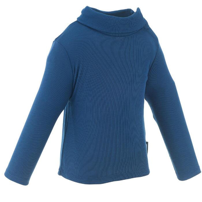 Thermoshirtje voor sleeën/skiën voor peuters Simple Warm marineblauw