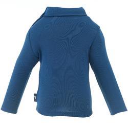 Sous-vêtement haut de ski / luge bébé simple warm bleu marine