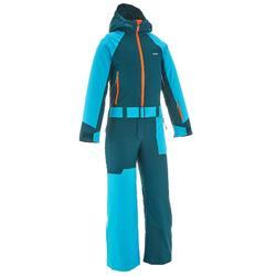 Skipak voor kinderen SKI-P SUIT 500 blauw/groen