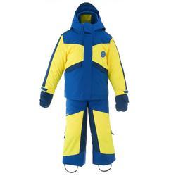 Schneeanzug Piste 500 Kinder blau/gelb