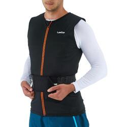 Rugbeschermer voor snowboarden/skiën voor volwassenen DBCK 100 zwart
