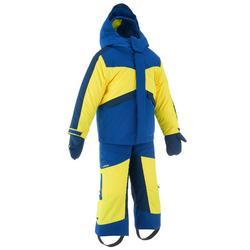 Skianzug Combo 500 Kleinkinder blau/gelb