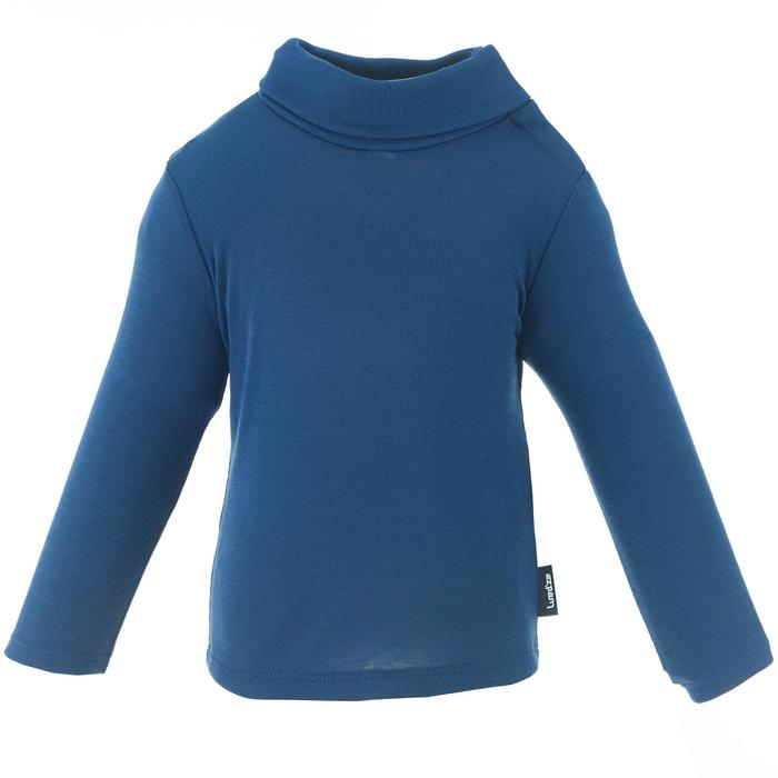 Babies' Skiing/Sledging Base Layer Top Simple Warm - Navy Blue