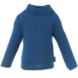 嬰幼兒滑雪/雪橇底層上衣Simple Warm - 軍藍色