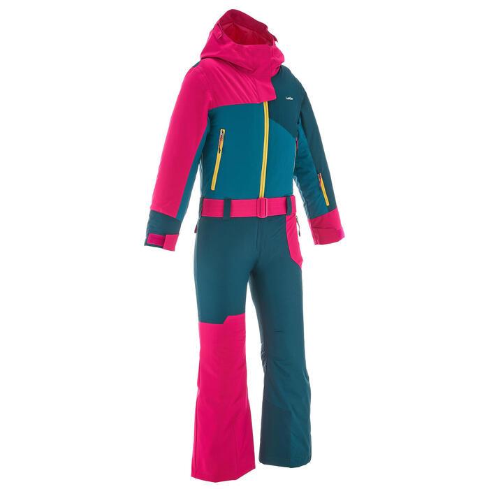 Skipak voor kinderen SKI-P SUIT 500 roze/blauw