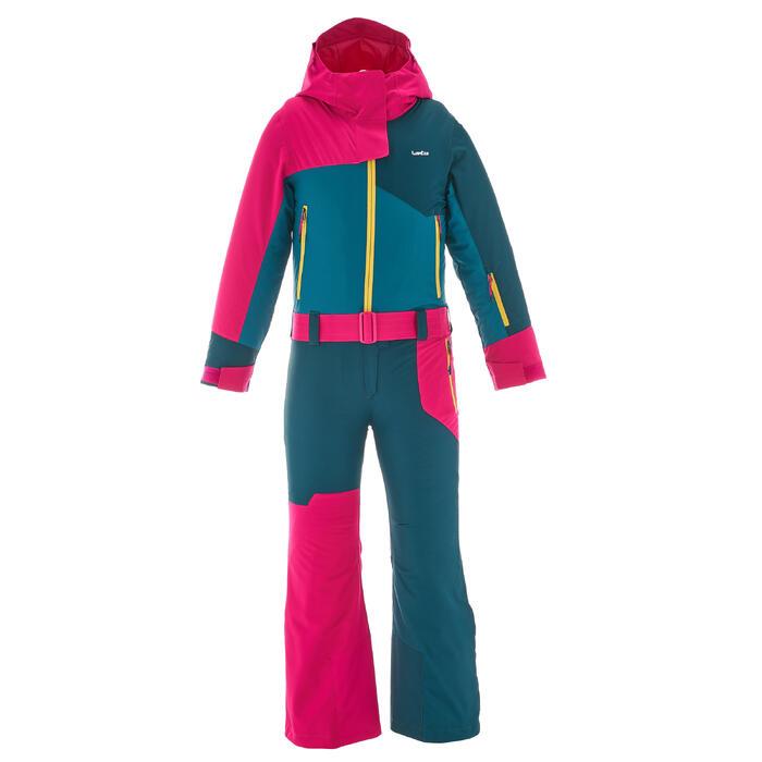 COMBINAISON DE SKI ENFANT SKI-P SUIT 500 ROSE BLEUE