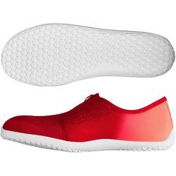Zapatillas acuáticas Aquashoes 120 adulto degradado rojo coral