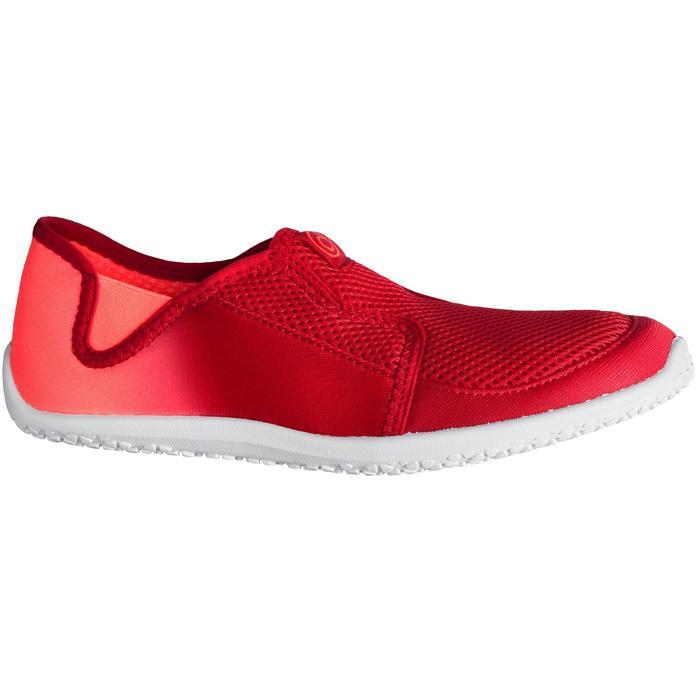 Chaussures aquatiques Aquashoes 120 adulte dégradé rouge corail