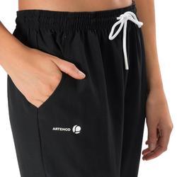 女款網球長褲Essential 100-黑色