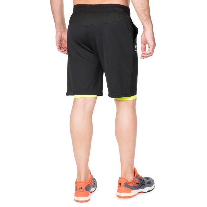 防寒短褲500-黑黃配色