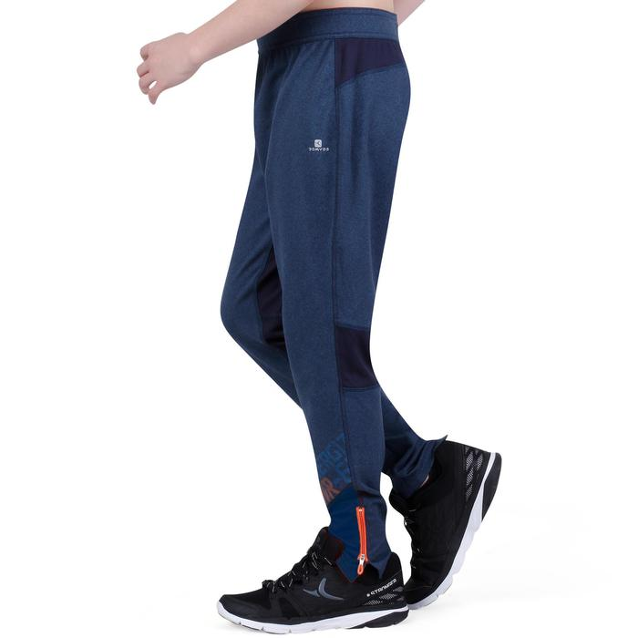 Pantalon 980 chaud slim Gym garçon poches imprimé marine - 1237699
