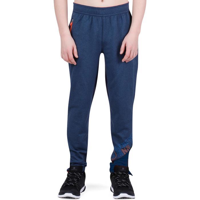 Pantalon 980 chaud slim Gym garçon poches imprimé marine - 1237705