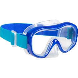 Snorkelmasker SNK 520 voor volwassenen blauw, gehard glas.