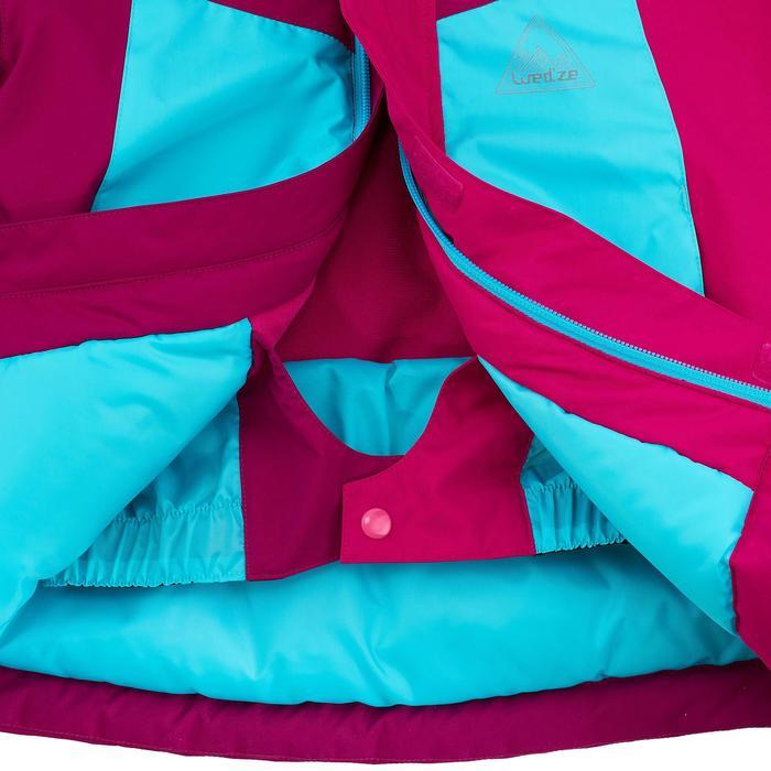 Kinder ski-jas 300 blauw/roze/paars