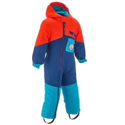 Combinaison ski enfant bébé 3en1 EVOSLIDE Orange/ Bordeaux.