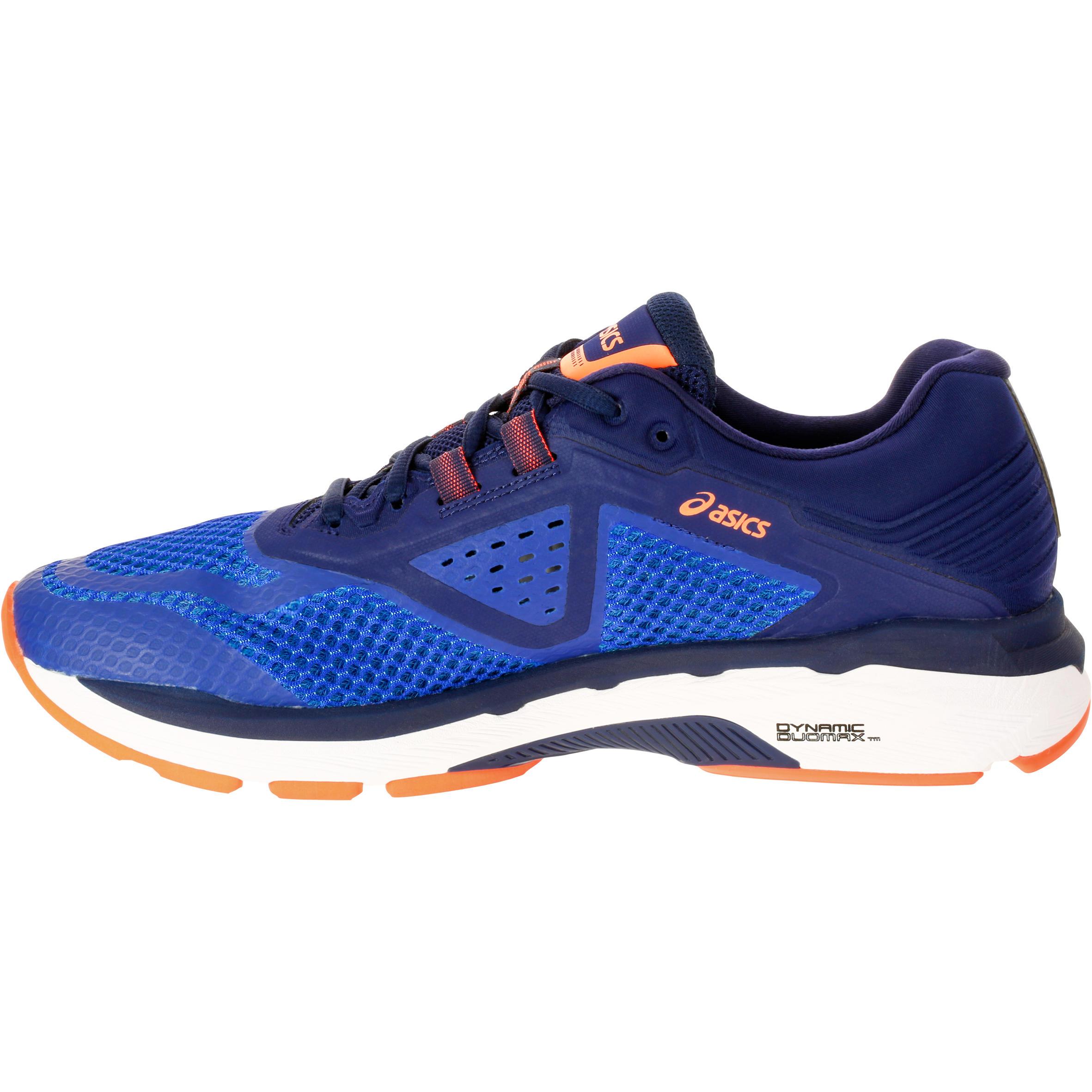 chaussures running asics gel gt 2000 6 homme bleu asics