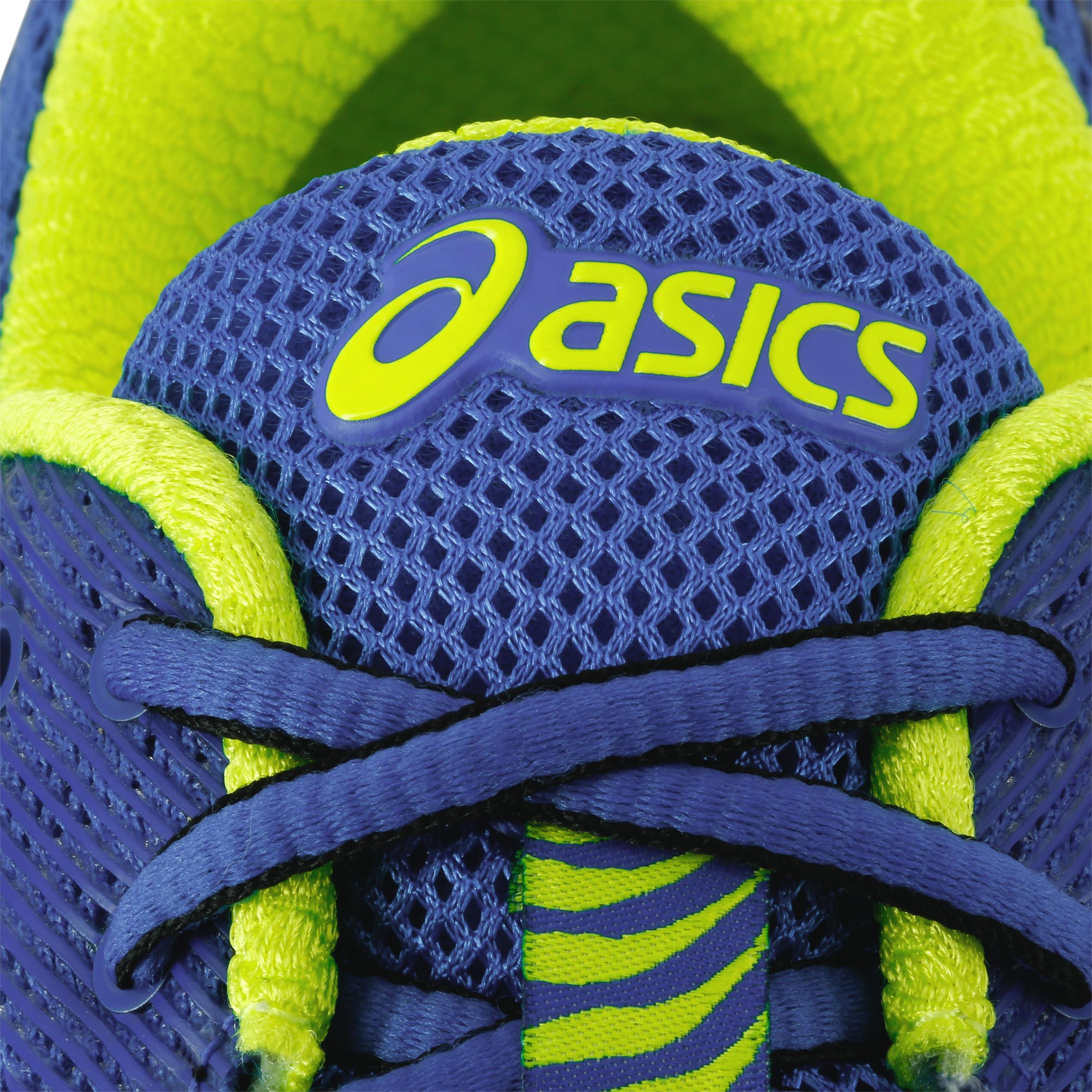 chaussures running asics gel ziruss homme bleu jaune