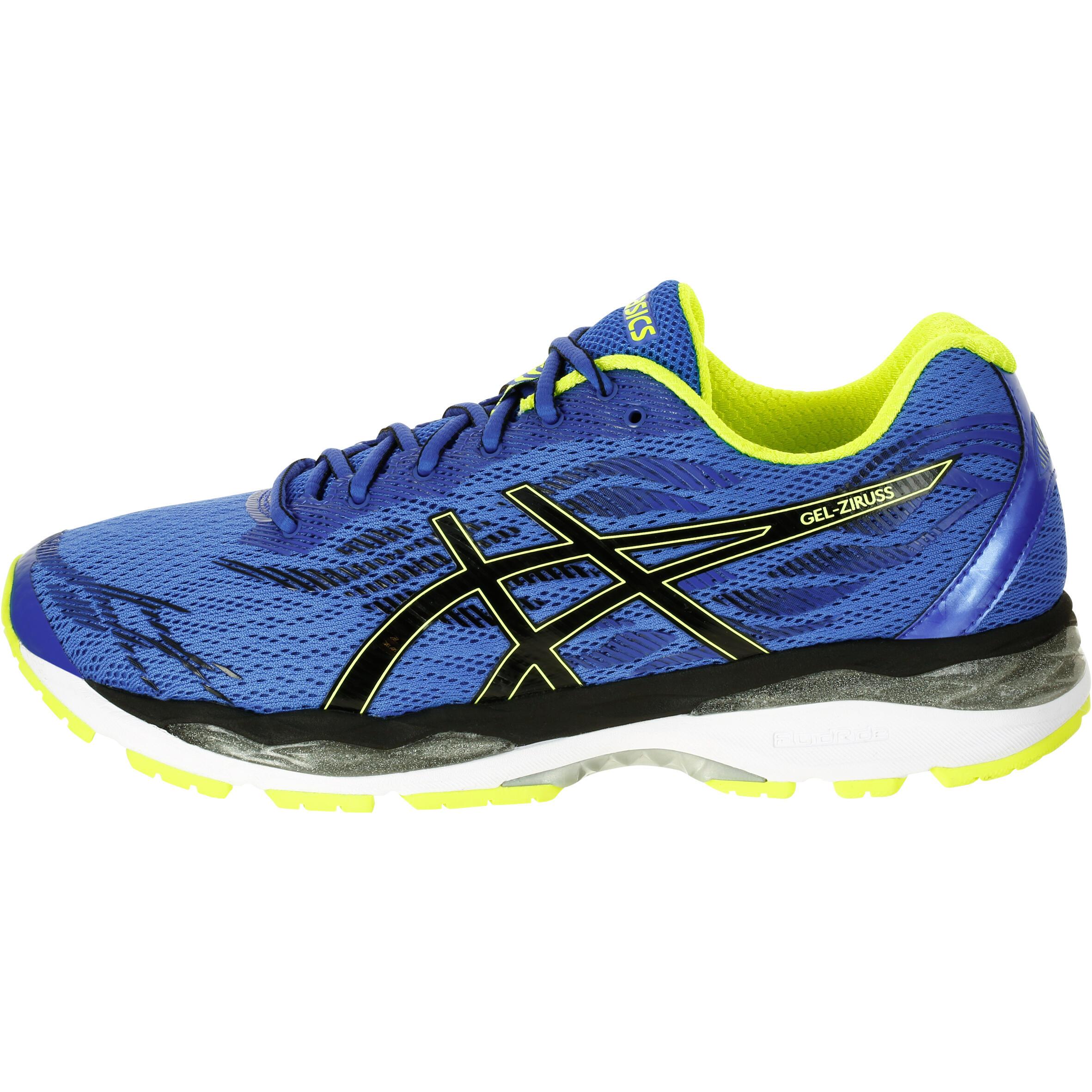 website for discount limited guantity classic fit Chaussures Ziruss Gel Decathlon Asics Homme Jaune Bleu ...