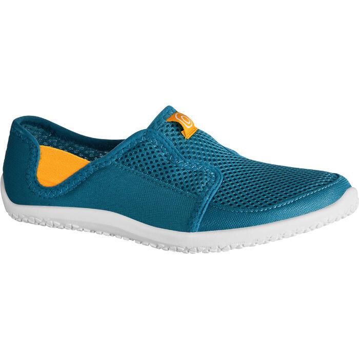 Chaussures aquatiques Aquashoes 120 enfant bleues jaunes - 1238264
