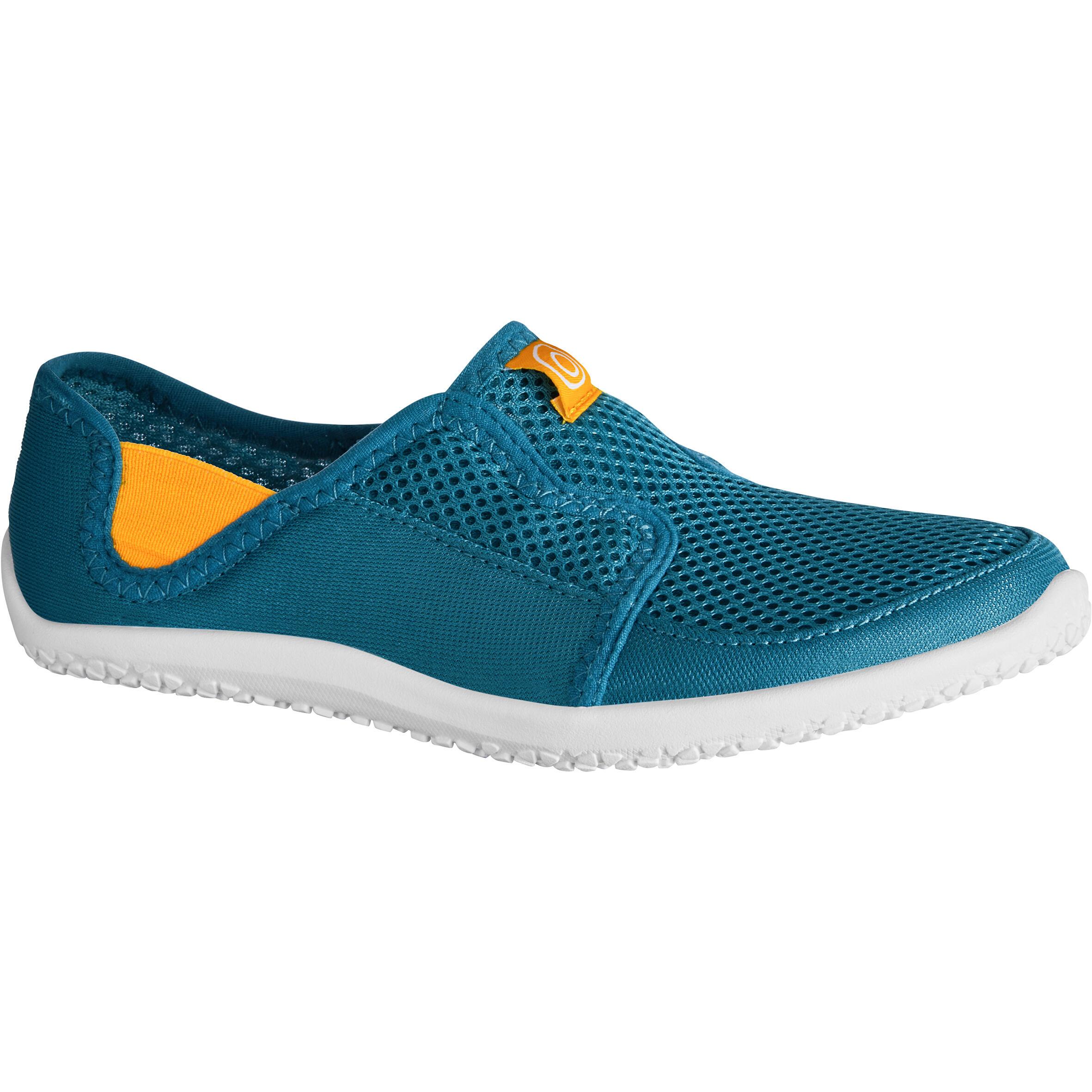 Subea Waterschoenen Aquashoes 120 voor kinderen blauw geel